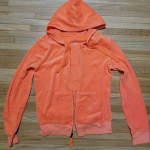 Orange zip up